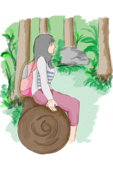 Sitting In Forest